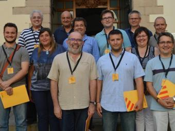 La nova permanent d'ERC a la porta de la sala Tarafa ERC Vallès Oriental