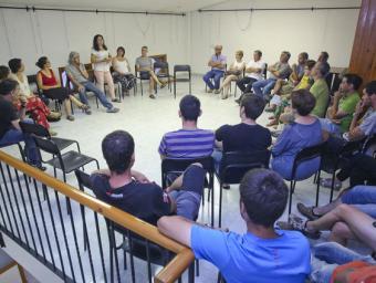 L'assemblea de veïns que es va fer dilluns al vespre als locals del Sindicat, a Sant Boi