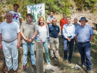 La presentació del nou itinerari, dilluns passat a la Cúbia, amb representants de tots els implicats en el projecte MARC SANYÉ