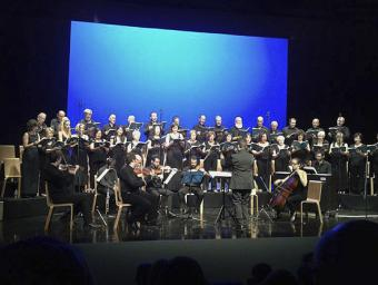 La coral vallesana en un dels concerts amb el seu grup instrumental