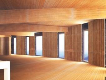 Interior del futur edifici del Turó de l'Home