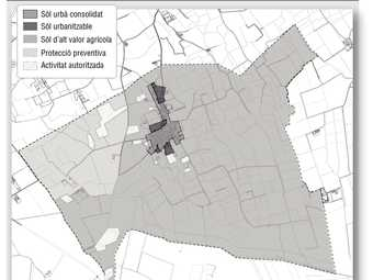 El plànol del pla urbanístic