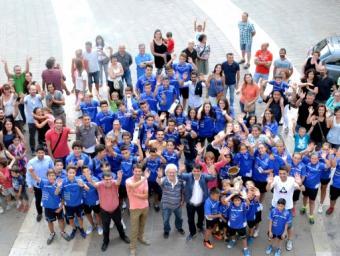El CF Igualada celebra els èxits de la temporada a l'Ajuntament Info Anoia