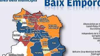 Alcaldies dels municipis del Baix Empordà