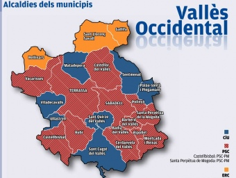 Distribució de les alcaldies a la comarca
