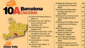 Consulta sobre la independència per barris a Barcelona