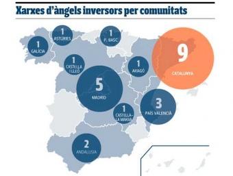Mapa de distribució de les xarxes de 'Business Angels'.