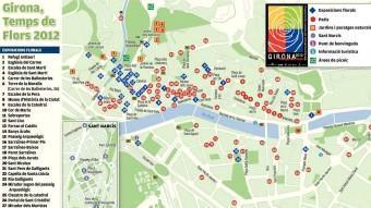 El mapa de l'exposició de flors a Girona Elpunt Avui