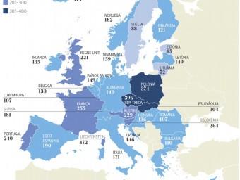 Mapa de les professions regulades a Europa