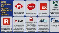 El transport públic ofereix més freqüències des d'avui