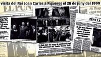Infografia, la visita del Joan Carles a Figueres a la premsa del 1999