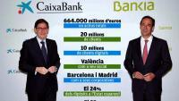 José Ignacio Goirigolzarri, president de Bankia (esquerra), i Gonzalo Gortázar, conseller delegat de CaixaBank