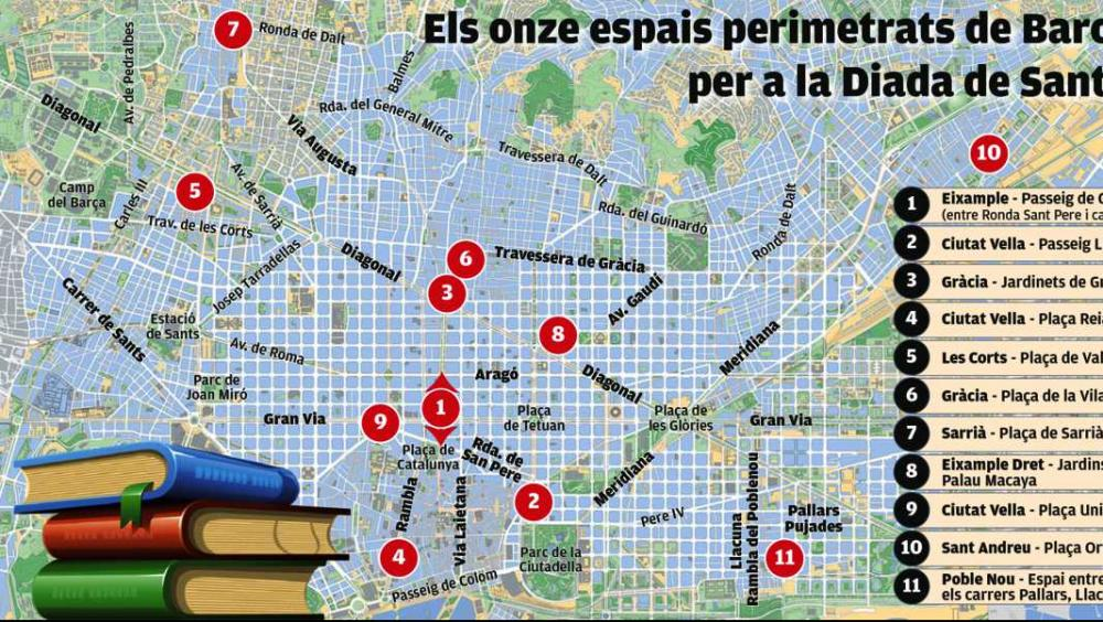 Els onze espais perimetrats de Barcelona