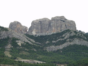 Una imatge de les Roques de Benet, al Massís dels Ports. A.S