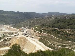 La zona de Vallcarca, on s'explota una pedrera.  A.M