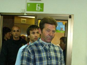 Francisco López, el dia que va ser jutjat a Girona.  LL.S