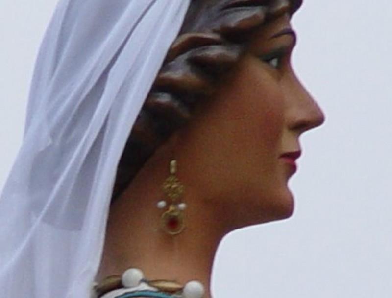 Els gegants de Pineda, en Guerau I i Ermessenda de Montsoriu, a la festa major petita de Sant Joan Baptista.