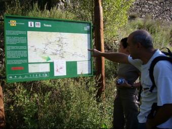 Imatge d'arxiu de la presentació d'una de les rutes senderistes de la Vall de Ribes. J.C