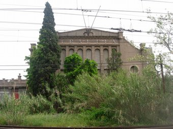 Una de les antigues fàbriques que l'empresa Uralita tenia a Cerdanyola del Vallès. C.A.F