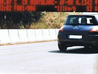 Fotografia d'un dels anteriors controls de velocitat realitzats a Valls.
