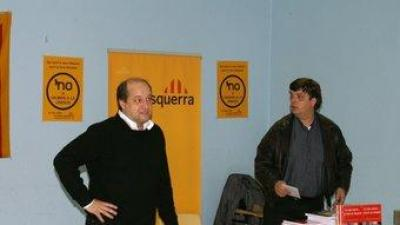 Enric Vilanova i Joan Ridaura d'ERC a Catalunya Nord. EL PUNT