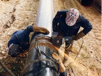 Obres de construcció d'un gasoducte