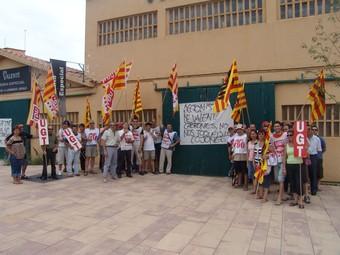 Els treballadors de Varo SA, durant una de les jornades de vaga que van realitzar aquest estiu.  M.L