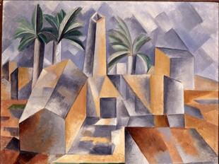 «La Fàbrica d'Horta», és el quadre de Picasso que s'ha triat per commemorar el centenari de la segona estada del pintor a Horta.  EL PUNT