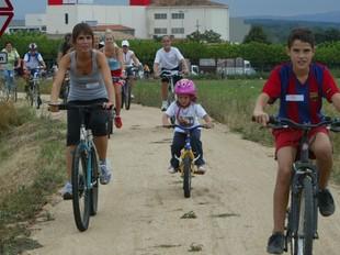La bicicletada popular de l'any passat.  EUDALD PICAS