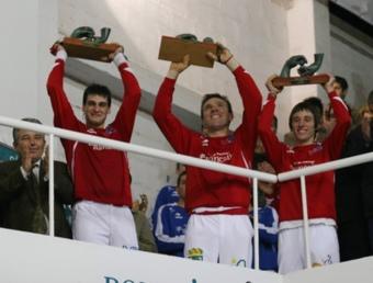 Alvaro, Sarasol i Genovés alcen el trofeu en anteriors edicions. ARXIU