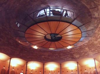 La cúpula de Guastavino al teatre La Massa de Vilassar de Dalt. QUIM PUIG
