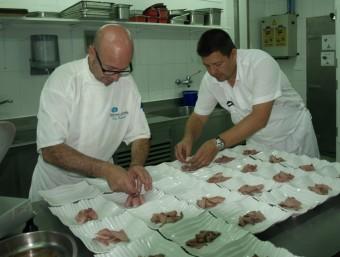 Toni López comanda la cuina del Balneari de Xulella. ESCORCOLL