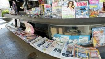Premsa en un quiosc de la ciutat de Girona. JOAN SABATER