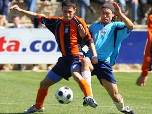 Chacón, a la dreta, en una acció del Vilajuïga-Cassà.  LL. SERRAT