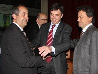 Recoder, amb Artur Mas i Felip Puig. EL PUNT