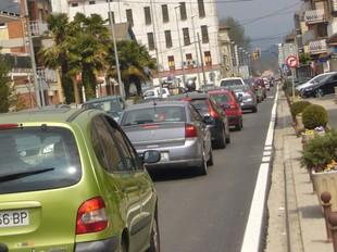 A les Preses comentaven ahir que mai no havien vist tant de trànsit de vehicles. J.C