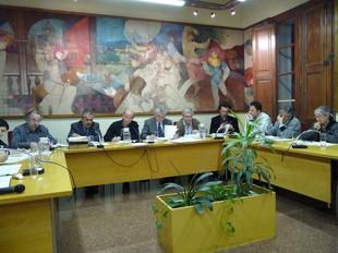 Una imatge del ple ordinari de dimarts a Tiana /  I. MARTÍNEZ