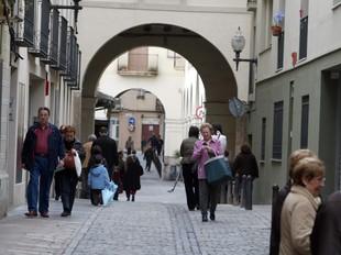 Foto d'un dels carrers emblemàtics del casc antic de Sant Andreu. QUIM PUIG
