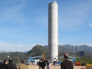 La torre de cop d'ariet del canal de Xerta-Sénia. G.M