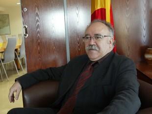 Josep Lluís Carod-Rovira, a la delegació del govern a Tarragona, on demà presidirà el consell de direcció.  JUDIT FERNÀNDEZ