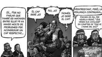 Vinyeta del còmic sobre Junqueras i els Almogàvers./  ERC