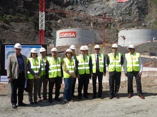 Imatge de la visita del conseller Baltasar a les obres de l'EDAR de l'Alt Maresme. T.M