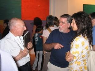 Rafa Calduch al costat d ela directora de la sala, Mª José Molina el dia de la inauguració.