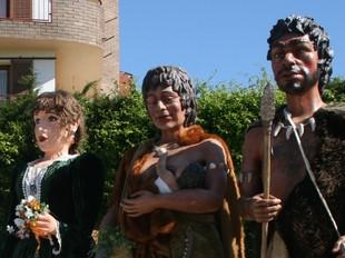 Alguna de les figures que van participar al'última trobada gegantera.  E.M