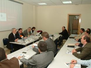 Una imatge de la presentació ahir a Mataró de l'informe de la Cambra de Comerç./  R. G