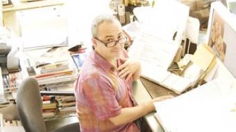 Ramón Úbeda, al seu estudi del Poblenou CARLOS IGLESIAS