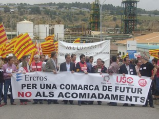 Els treballadors de Flix es van manifestar divendres.  L.M