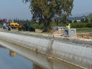 Les obres de la canonada principal van començar al març, al costat del canal. R.R