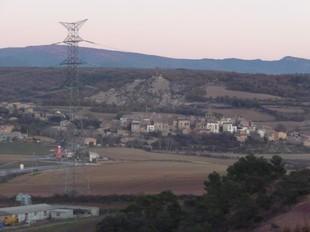 El poble de Figuerola d'Orcau, on REE vol posar l'estació transformadora de la MAT.  D.M