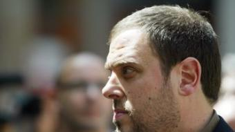 El candidat d'ERC, Oriol Junqueras.  ANDREU PUIG
